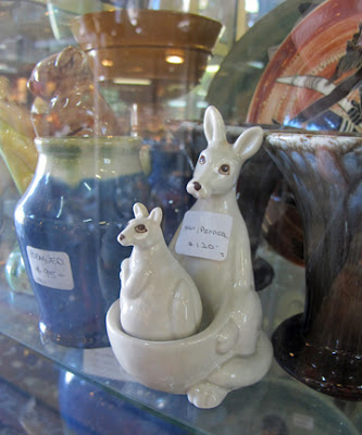 antique australian kangaroo salt and pepper