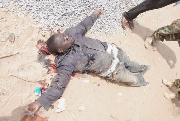Photos Of Boko Haram Men Killed By Nigerian Military (Warning Graphic Content)