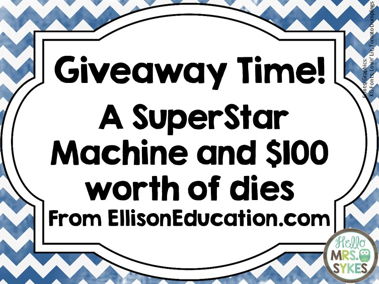 Hello Mrs Sykes ~ Ellison AllStar SuperStar #Giveaway and a #Freebie!