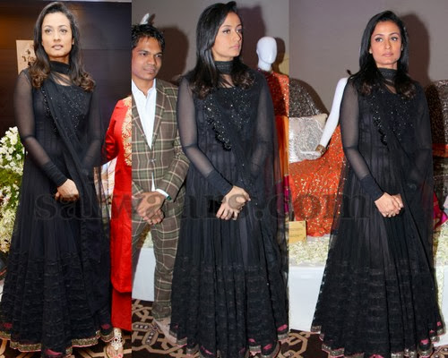 Namrata Shirodkar Black Long Salwar