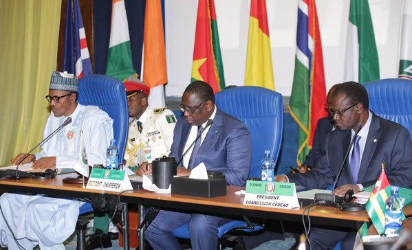 President Buhari at 48th ordinary session of the ECOWAS Authority of Heads of States