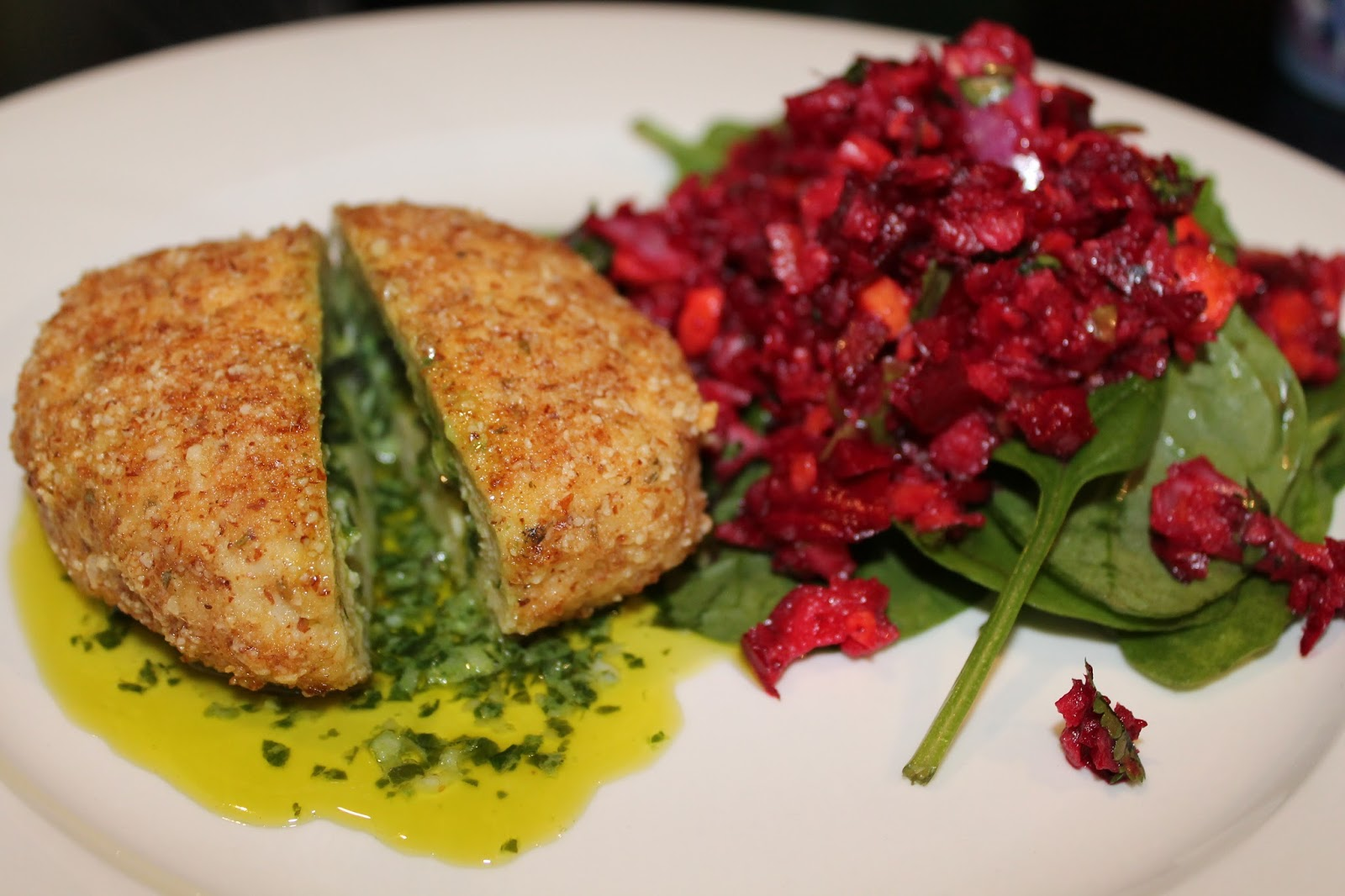 Skinnymixers Lchf Chicken Kiev And Beetroot Salad