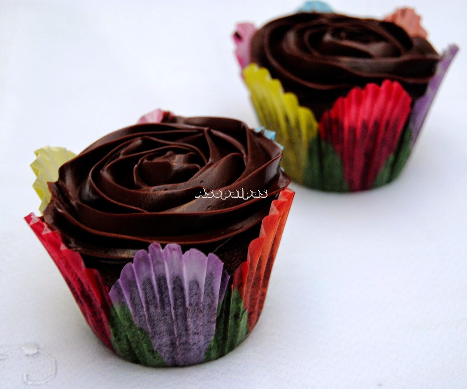 Cupcakes de Chocolate Negro