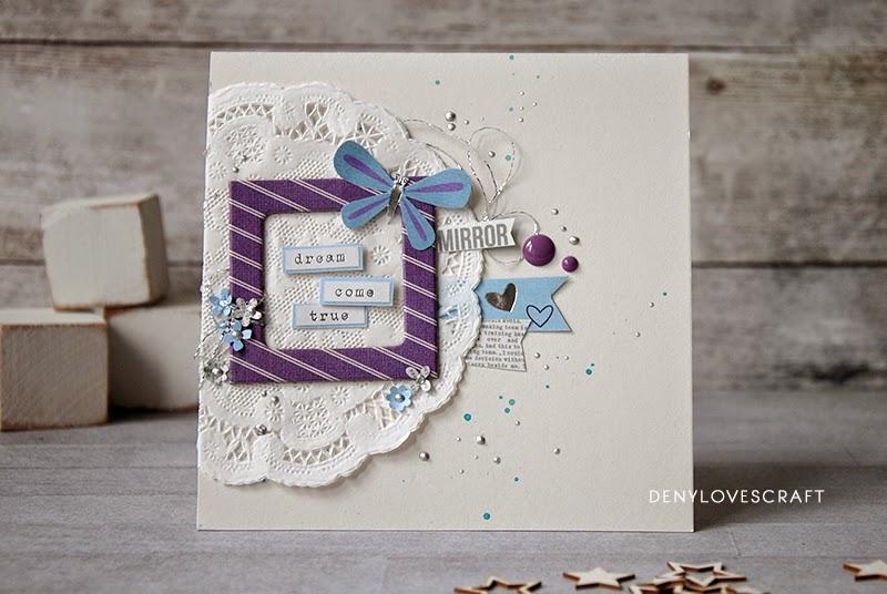 Papírové přání z dívčí kolekce Enchanted od Simple Stories.