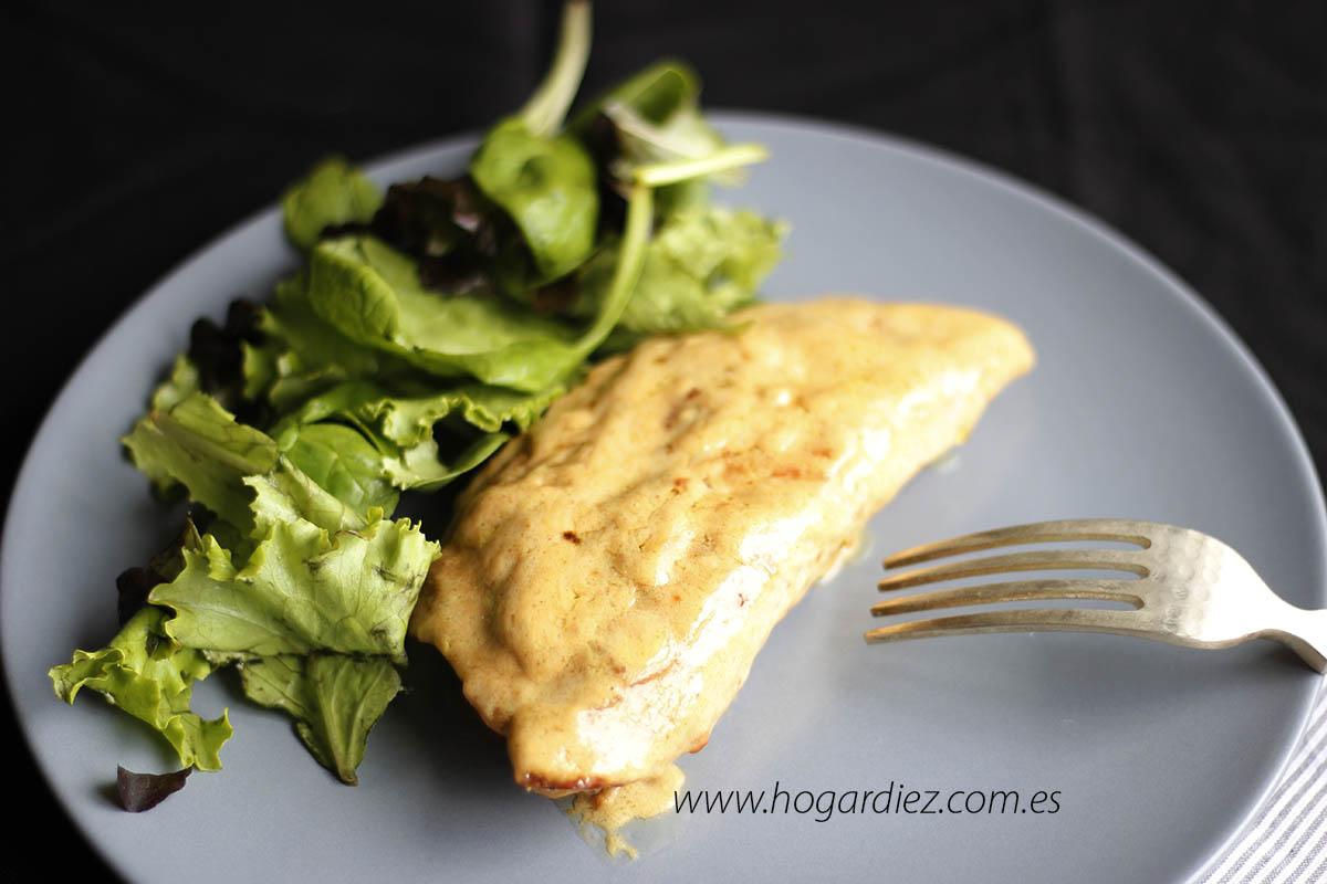Solomillo de pavo con salsa roquefort con Chef o Matic Pro