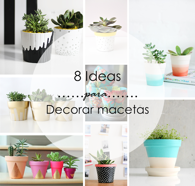 Decoraci n f cil 8 ideas para decorar macetas for Adornos para macetas