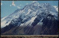 南半球の山の風景