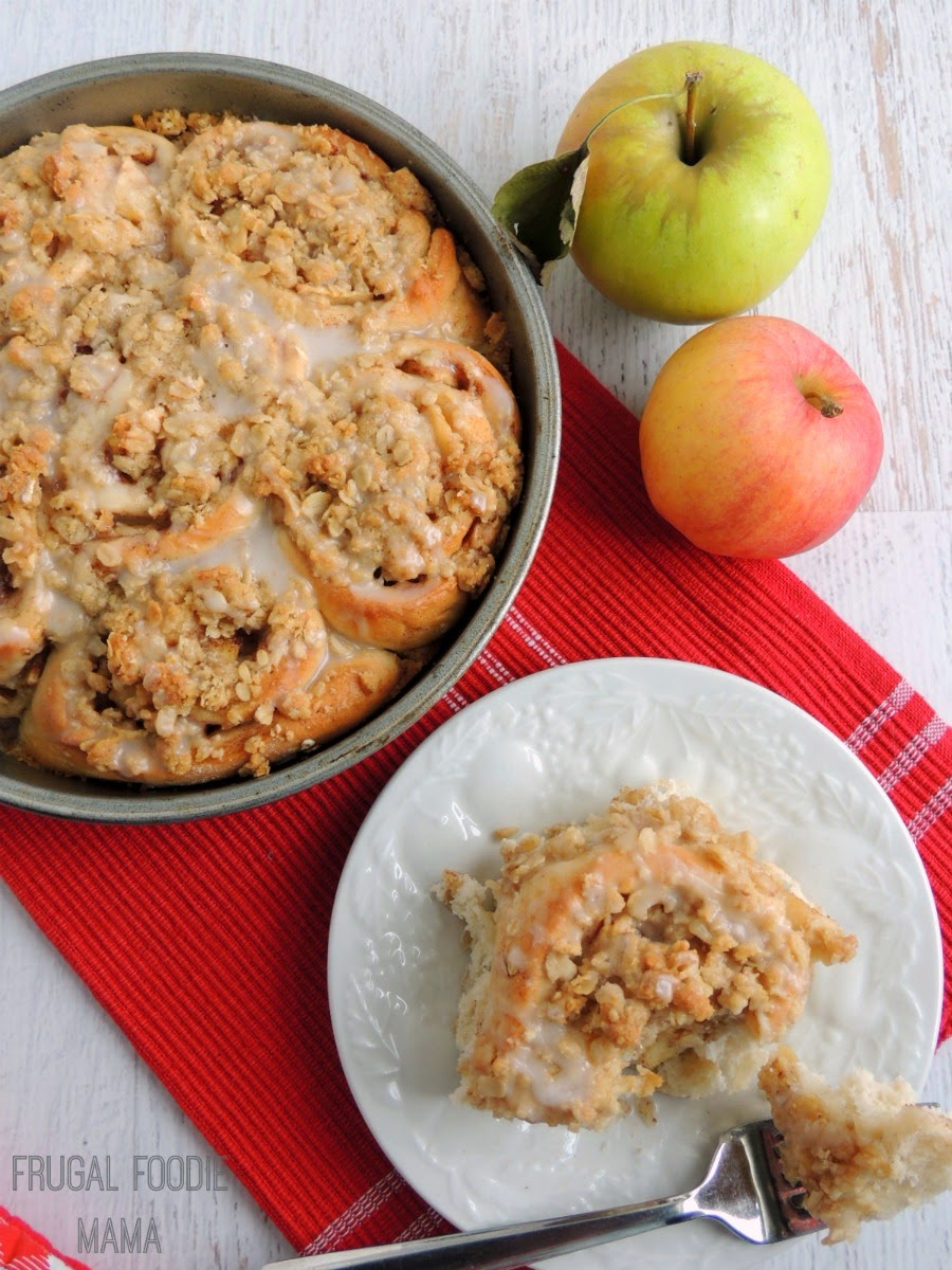 Apple Crisp Sweet Rolls- what happens when fluffy homemade cinnamon ...
