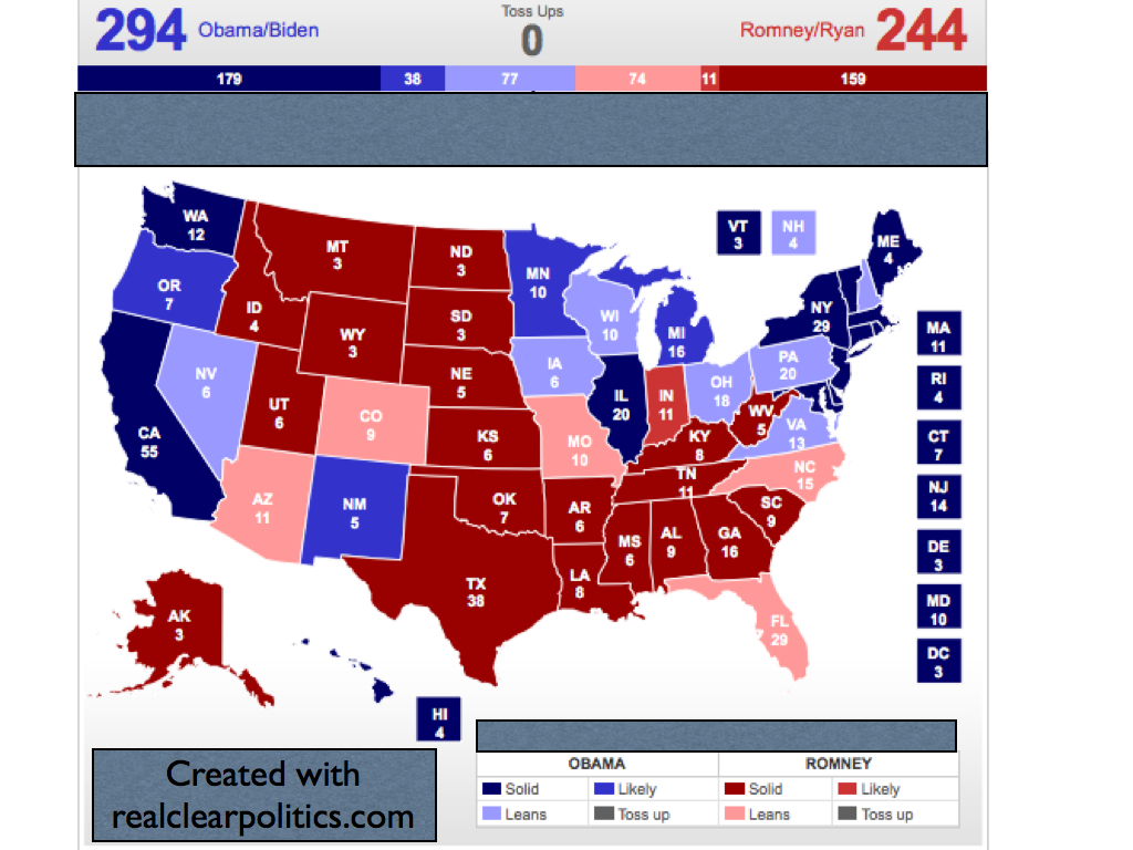 Electoral Vote Predictor The Big  Elecotral Map A Stable - Florida map by race