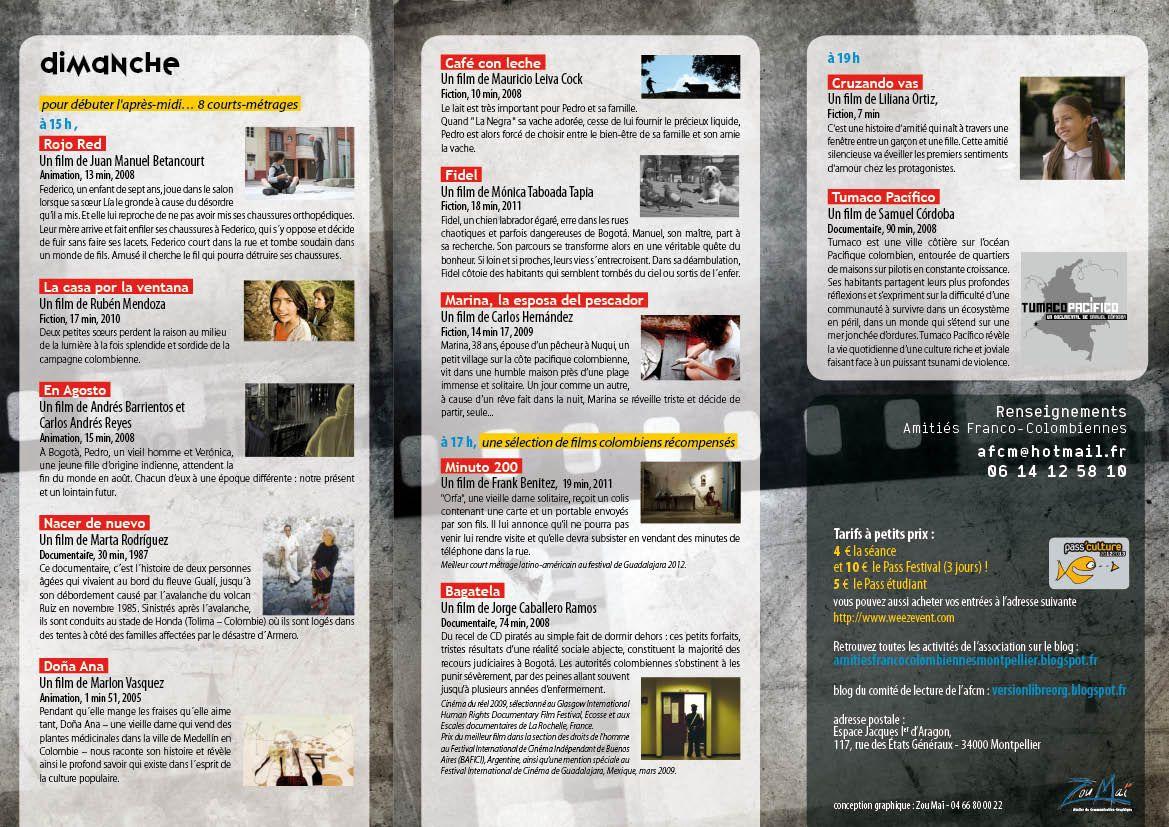 amiti s franco colombiennes de montpellier le programme du festival de cin. Black Bedroom Furniture Sets. Home Design Ideas