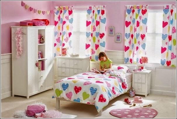 Dormitorios decorados con corazones dormitorios colores - Cortinas nina dormitorio ...