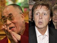 Paul McCartney pede que Dalai Lama pare de comer carne