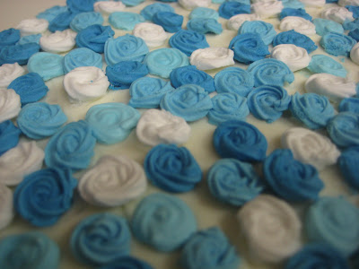 Blue Rose Petal Cake - Close Up of Roses 3