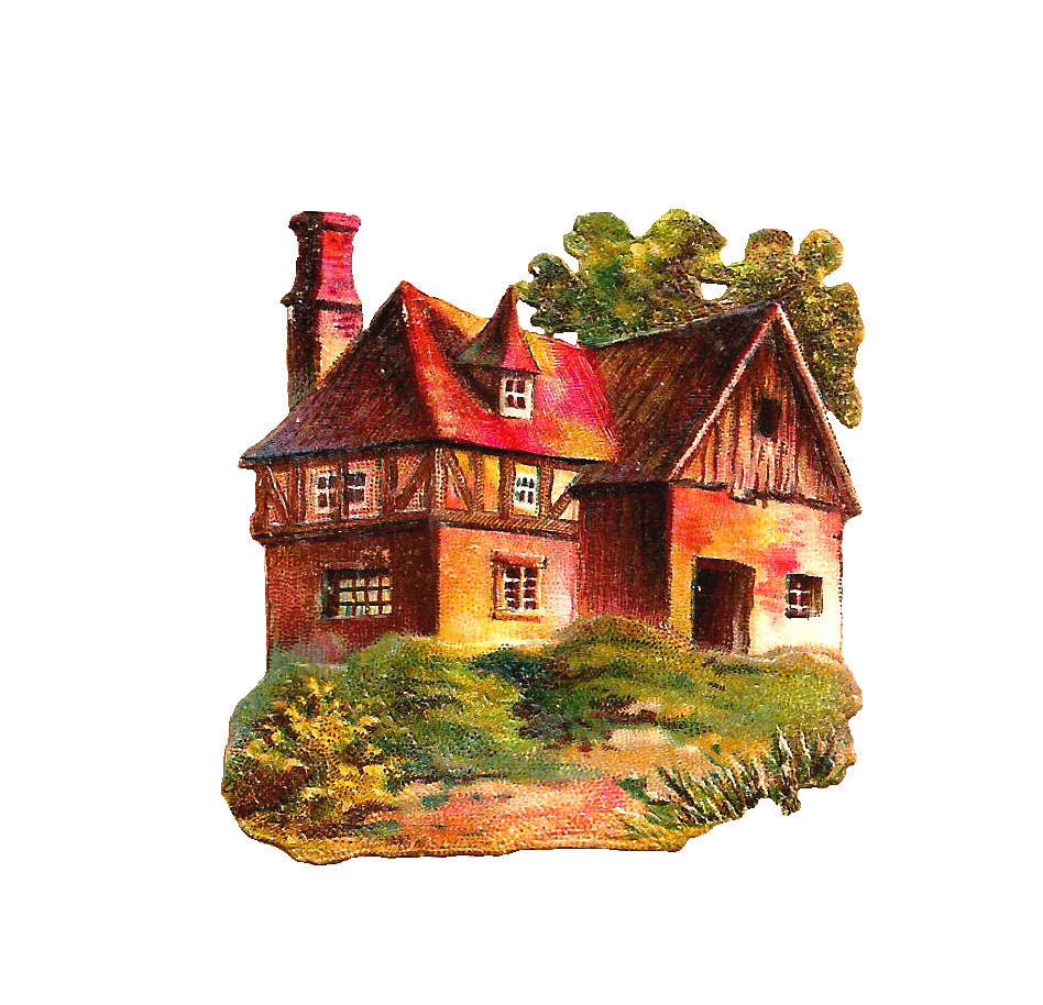 Free House Clip Art Antique Victorian Cottage And Cabin