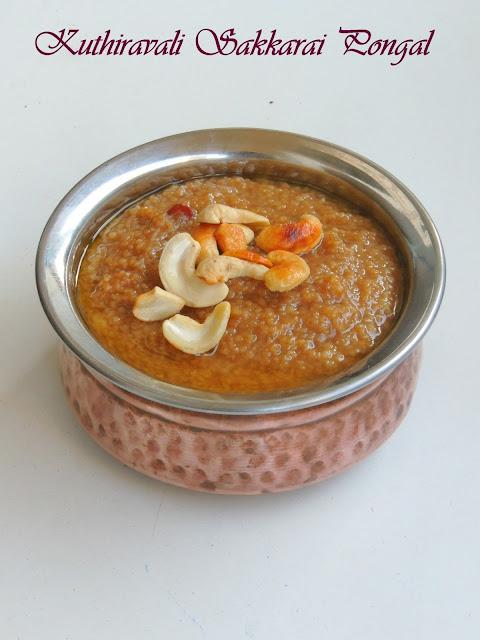 Kuthiravali Sakkarai POngal, Barnyard millet sweet pongal