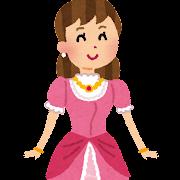 ドレスを着たお姫様のイラスト