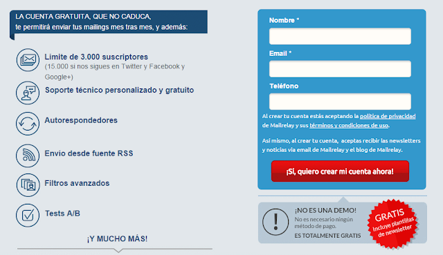 Practica el e-mail marketing con MailRelay