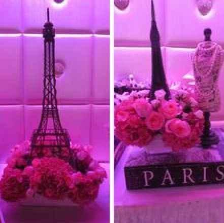 Centro de mesa estilo paris for Decoracion xv anos paris