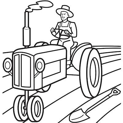 Mewarnai Mobil Traktor