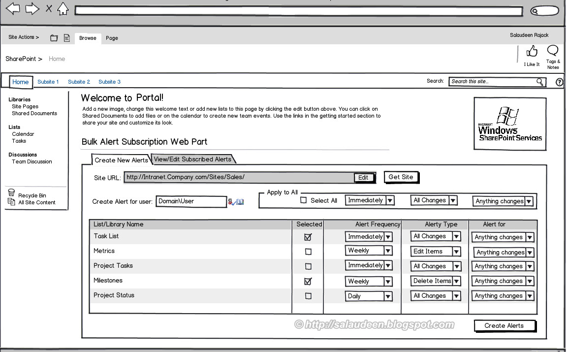 SharePoint Web Part Mock-up with Balsamiq - SharePoint Diary
