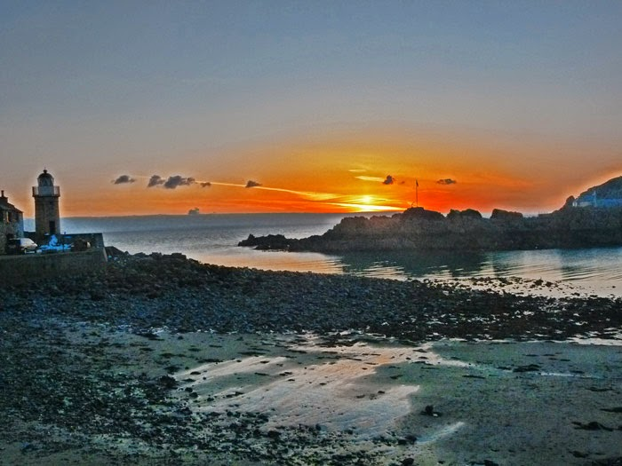 Portpatrick harbour, Dumfries and Galloway, sunset, visit Scotland