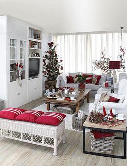 Toque de estilo deco navide a - Salones decorados para navidad ...