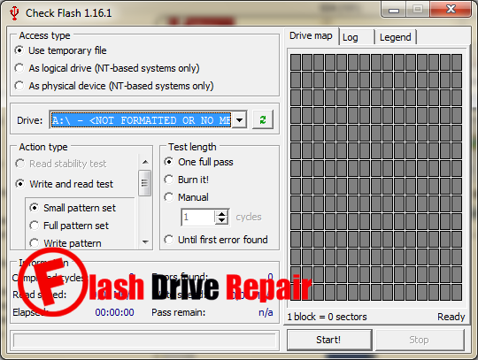 Check Flash Format Tool