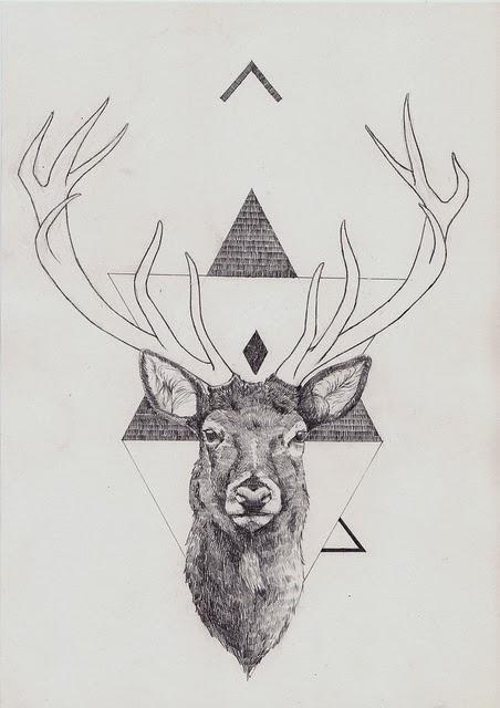 Uno de sus dibujos tatuado en el pecho Deer Tumblr Background