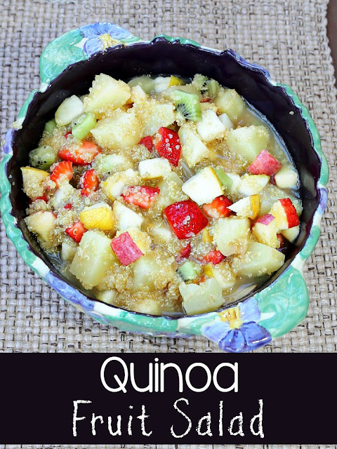 This healthy Quinoa Fruit Salad recipe is great to make with and for kids!