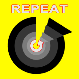 "Illustration of multiple repeating cycles over a bright yellow background and with the word ""Repeat"" above."