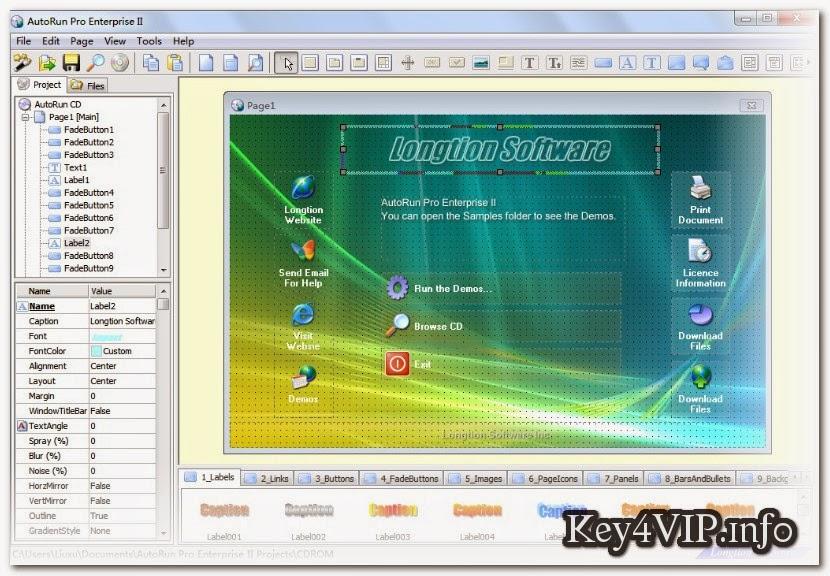 Longtion AutoRun Pro Enterprise 14.4.0.373 Full, Phần mềm tạo đĩa CD và DVD Autorun  tự chạy