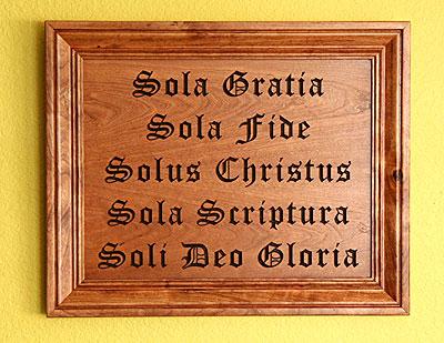 Scriptura deo sola sola gloria soli fide gratia solus christus sola The Five