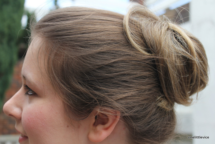 false wrap around hair piece: one little vice beauty blog