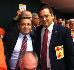 JOSE ANTONIO E O DEPUTADO PROTOGENES EM BRASILIA.