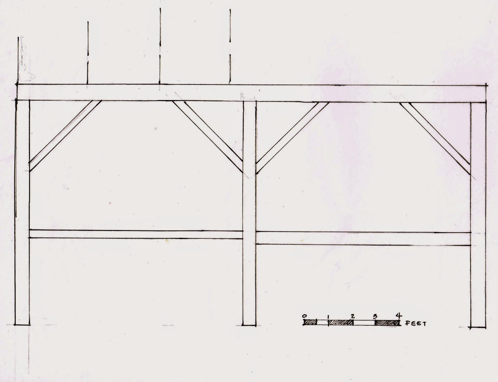 Jane Griswold Radocchia: Timber frame from a carriage house