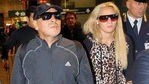 Maradona, violento con Rocío Oliva