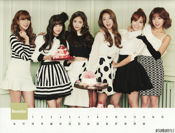 Apink calendar 2015 scans