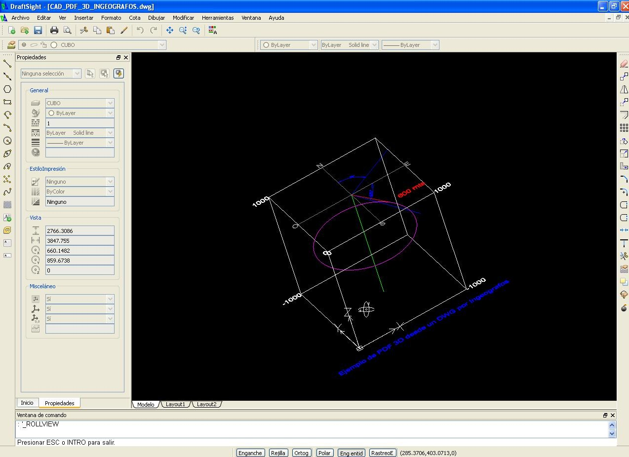 Ingeografos Crear un PDF 3d desde un archivo DWG 3d