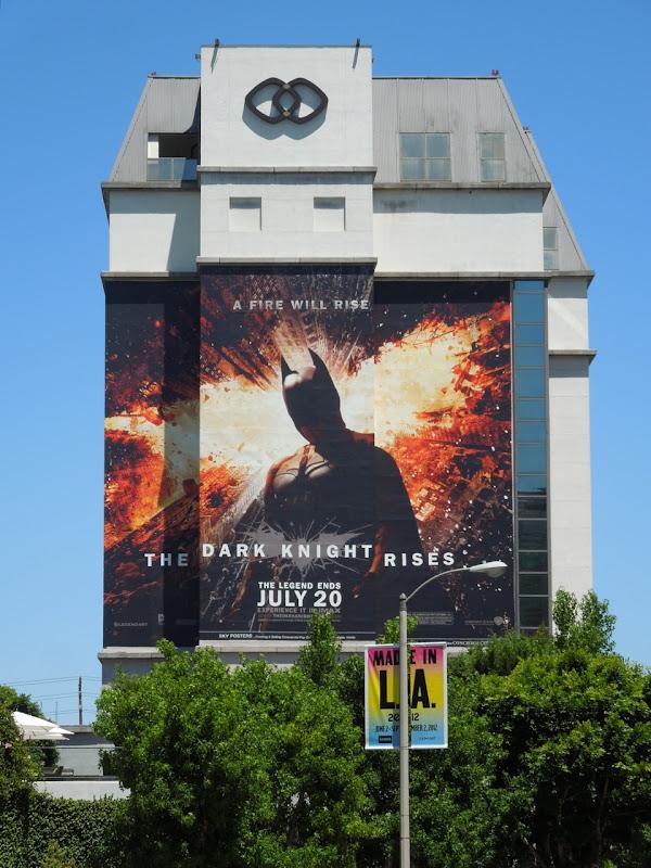 giant Dark Knight Rises movie billboard