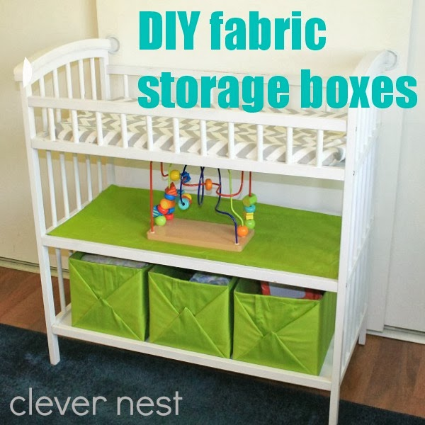 wrapped fabric boxes, so easy! #nursery #storagesolutions #babyroom #clevernest #yearofcrafts