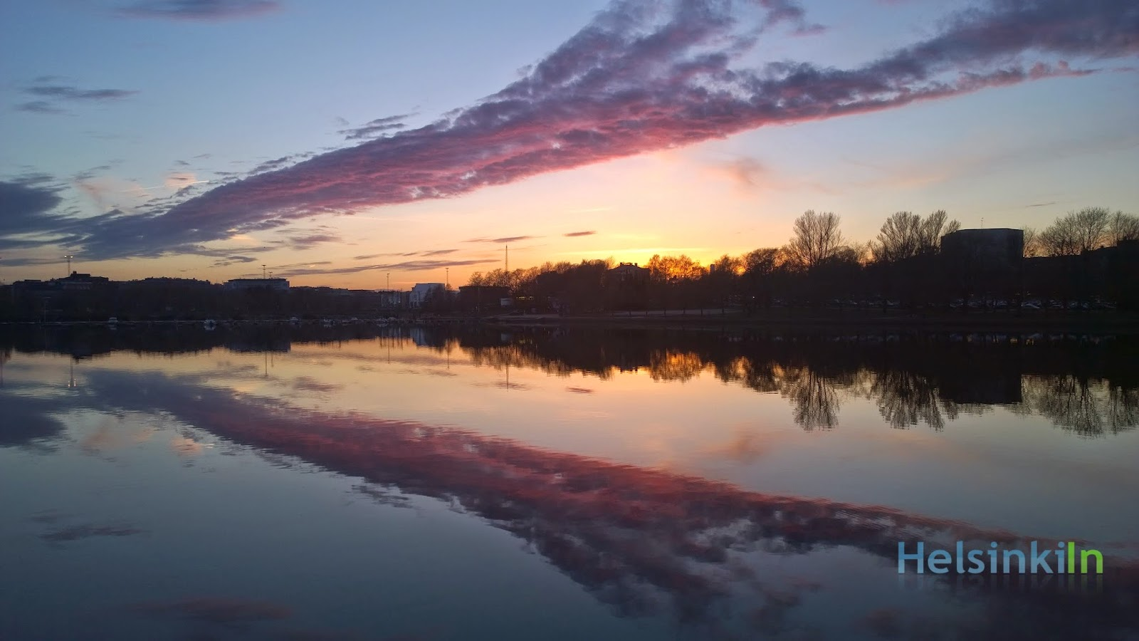 sunset over Töölö