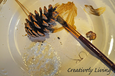DIY How to Make a Pinecone wreath for Christmas for under $10 by Creatively Living