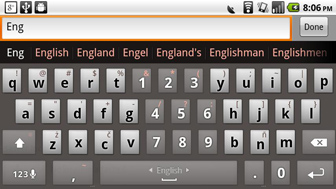 MultiLing Keyboard, android 2.2, Honso