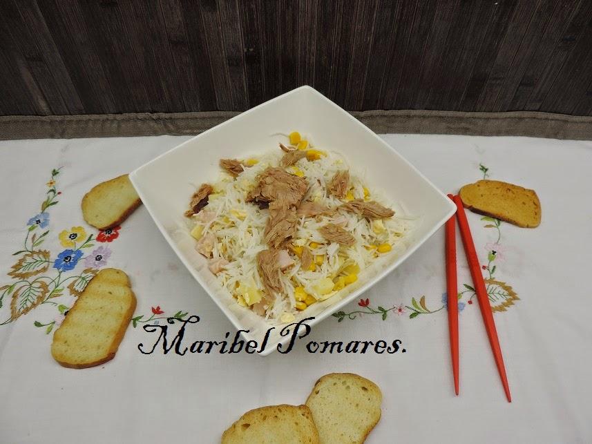 Ensaladas de arroz cocinar en casa es for Cocinar fideos de arroz