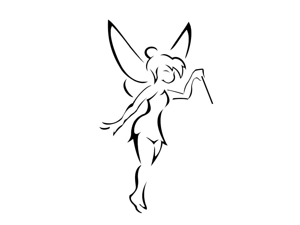 Disney tinkerbell sur pinterest f e clochette f es for Black and white tinkerbell