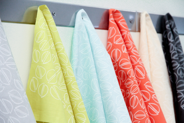 bright and modern printed pistachio fabric | Lovely and Enough