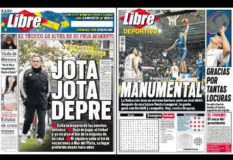 Tapa diario libre jj lopez depre report show el mundo for Diario el show del espectaculo