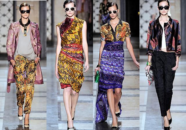Indonesian Batik and Ikat tradditional fabrics