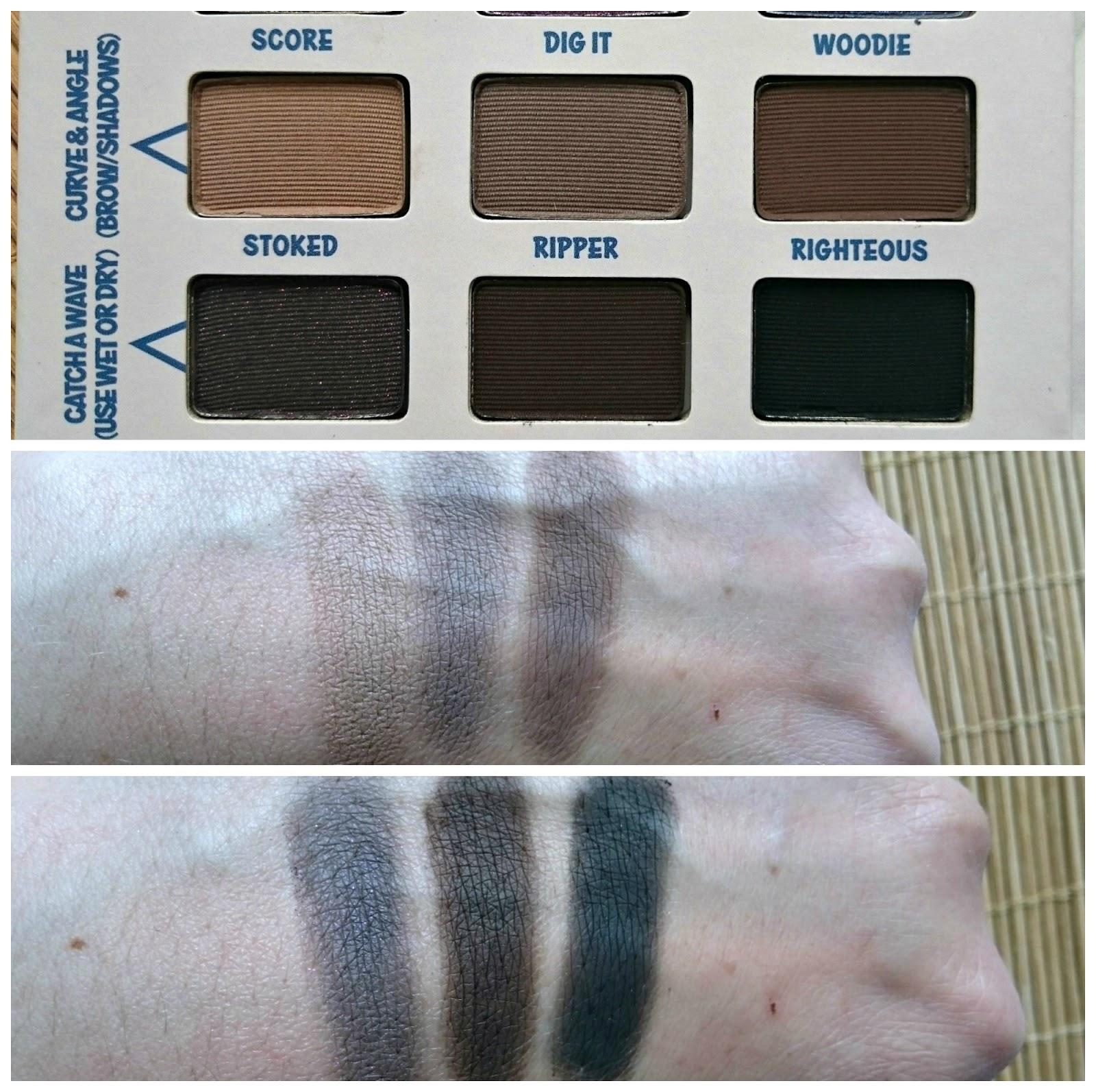 The Balm Balmsai palette swatches