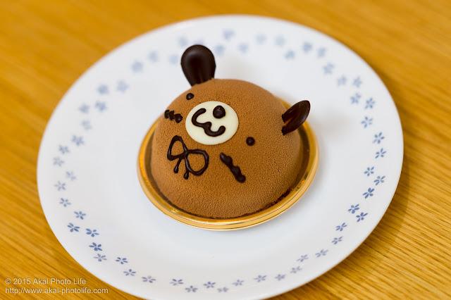 クマのチョコムースケーキ